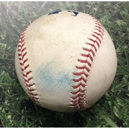 Photo of Game Used Baseball MIL@CHC 09/08/17 - Ryan Braun's 300th Career HR Game