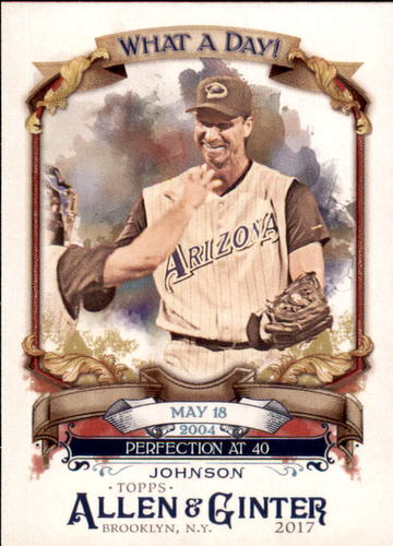 Photo of 2017 Topps Allen and Ginter What a Day #WAD75 Randy Johnson