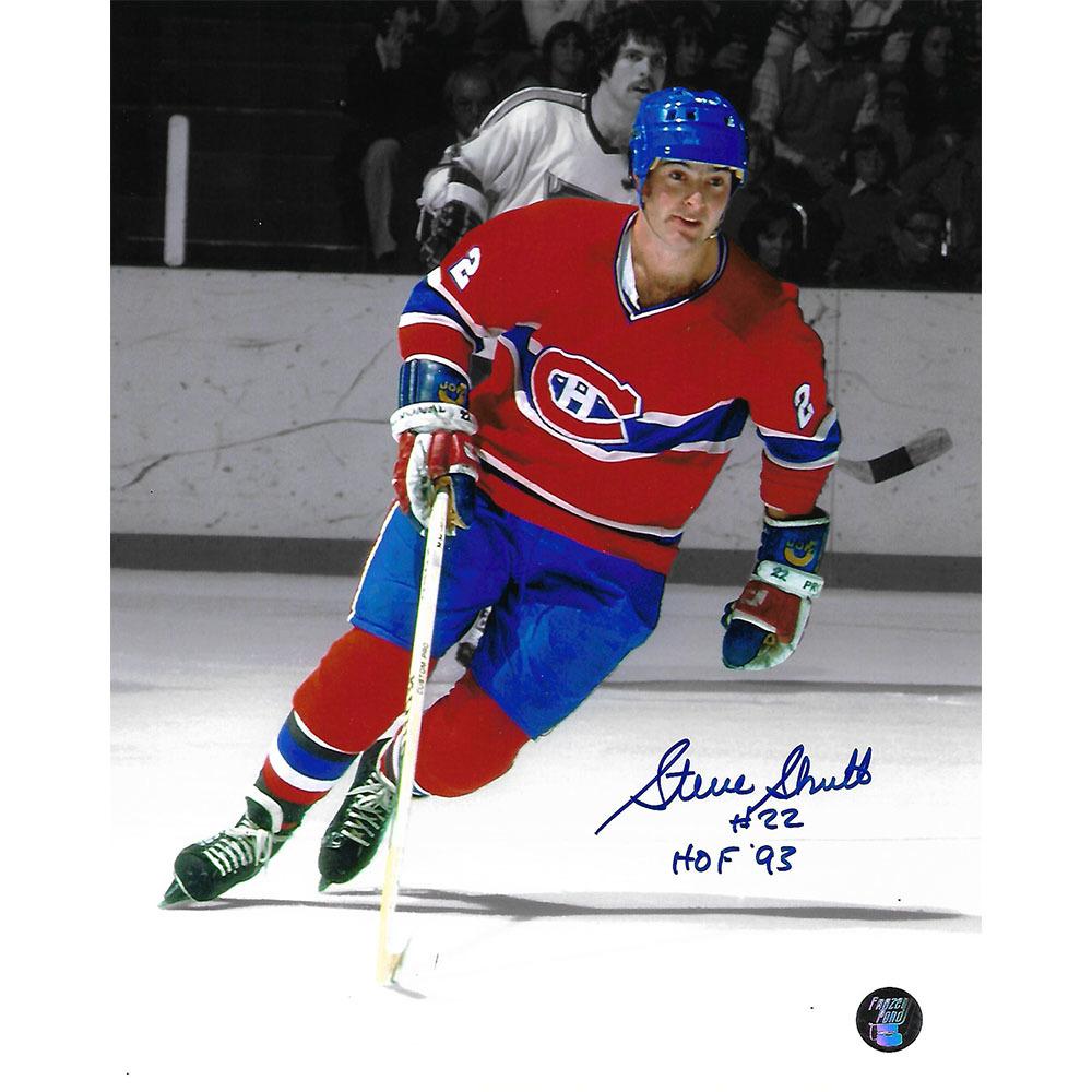 Steve Shutt Autographed Montreal Canadiens 8X10 Photo w/HOF 93 Inscription