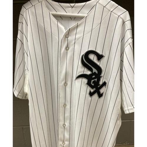 Photo of White Sox White Pinstripe Cool Base Jersey - Size 50
