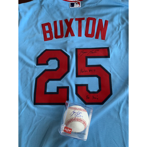 Photo of Byron Buxton Jersey and Baseball