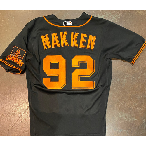 Photo of 2021 Team Issued Black Home Alt Jersey - #92 Alyssa Nakken - Size 40
