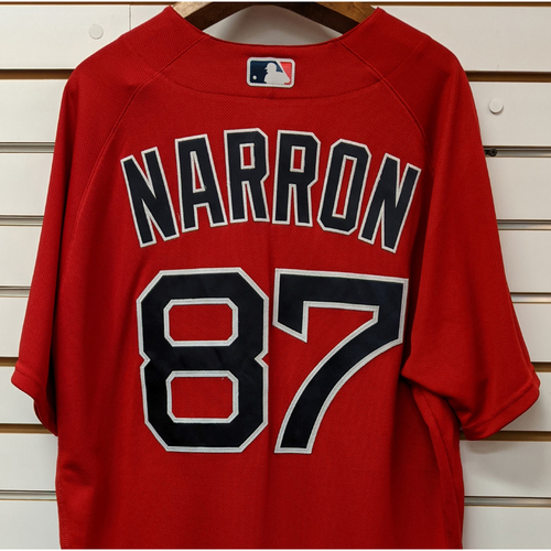Photo of Coach Jerry Narron #87 Team Issued Nike Red Spring Training Jersey