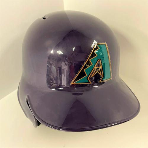 Photo of Team Issued Purple D-backs Helmet - Size 7 1/8