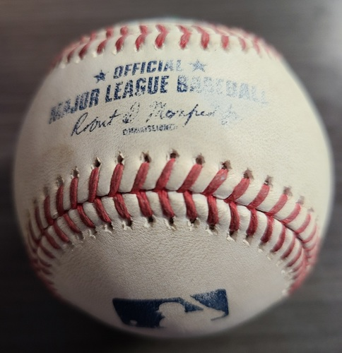Photo of Authenticated Game Used Baseball: Single by Yoan Moncada against Alek Manoah (Aug 23, 2021 vs CWS). Top 2.