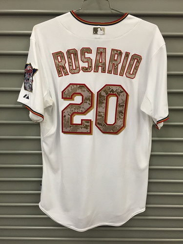 new product f0b8b 0ffc2 MLB Auctions | 2015 Game-Used Eddie Rosario Memorial Day Jersey