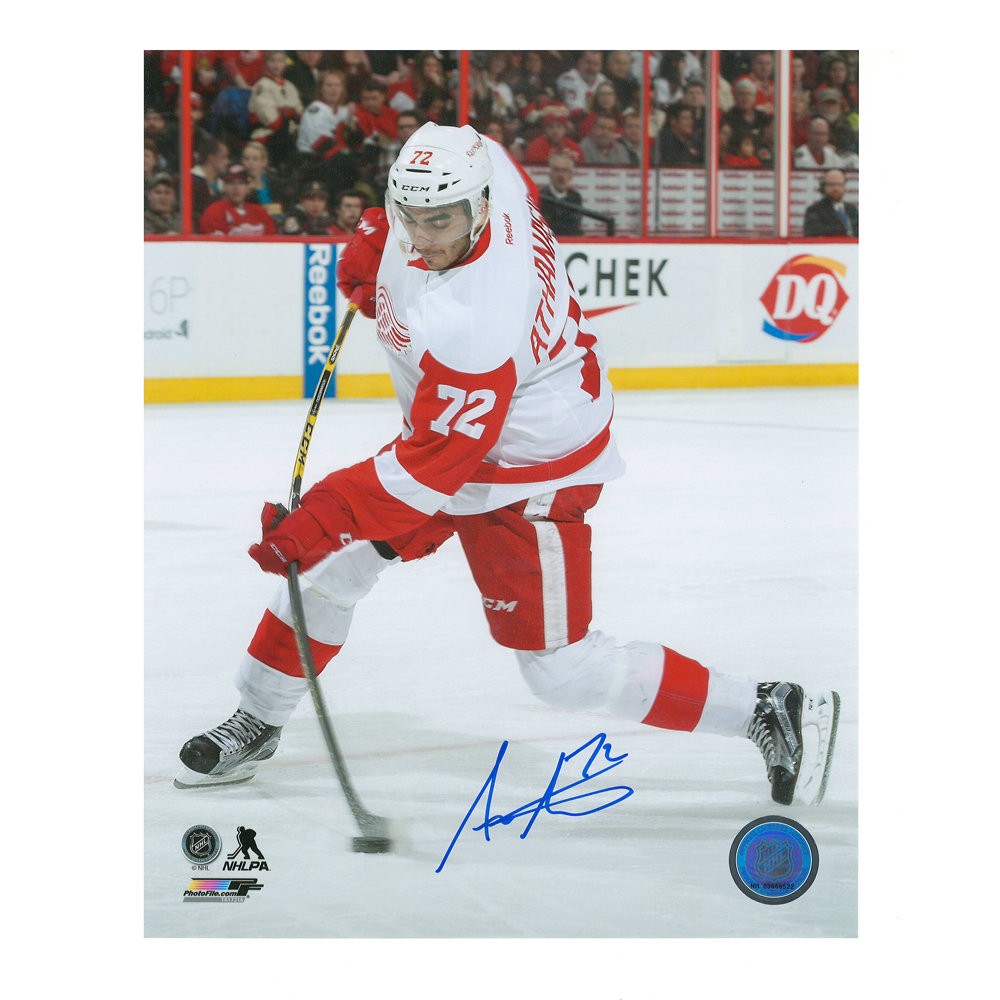 ANDREAS ATHANASIOU Signed Detroit Red Wings 8 X 10 Photo - 70451