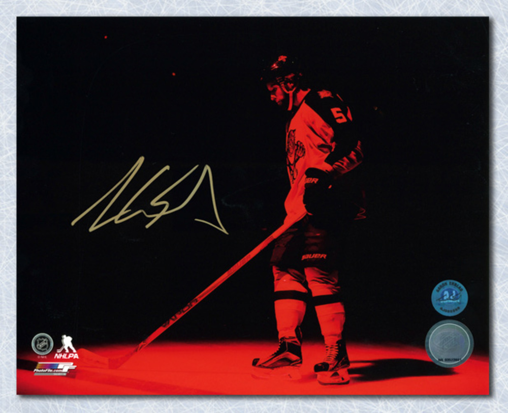Aaron Ekblad Florida Panthers Autographed Red Spotlight Introduction 8x10 Photo
