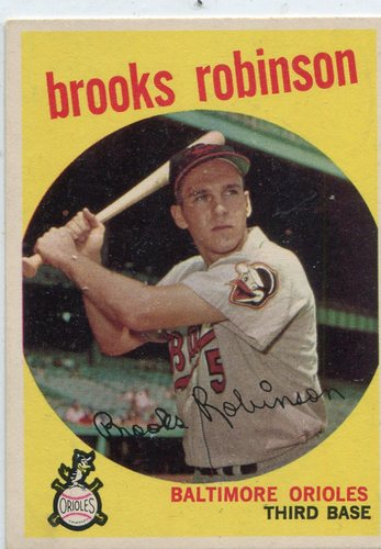 Photo of 1959 Topps #439 Brooks Robinson-- Hall of Famer