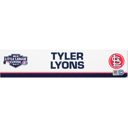 Photo of St. Louis Cardinals Game-Used Locker Name Plate, Tyler Lyons #70
