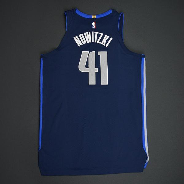 best service f712a cb9fe Dirk Nowitzki - Dallas Mavericks - Statement Game-Worn ...