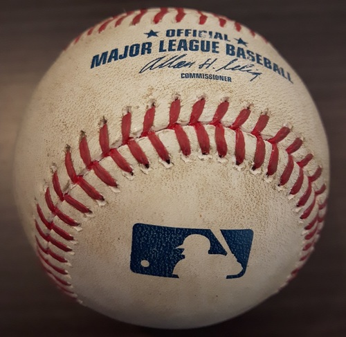 Photo of Authenticated Game Used Baseball - September 23, 2014: RBI Single by Robinson Cano against R.A. Dickey (Top 3)