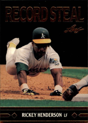 Photo of 1991 Leaf Gold Rookies #BC26 Rickey Henderson  -- Hall of Fame Class of 2009