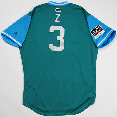 "Photo of Mike ""Z"" Zunino Seattle Mariners Game-Used Players' Weekend Jersey"