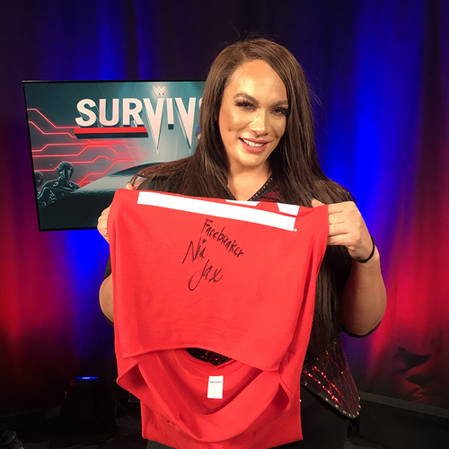 Nia Jax WORN & SIGNED T-Shirt (Survivor Series - 11/18/18)