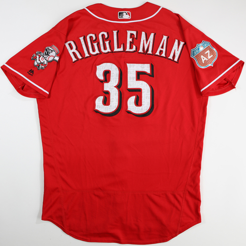 2016  Spring Training -  Spring Training Used Jersey - Jim Riggleman (Reds) - Size 48