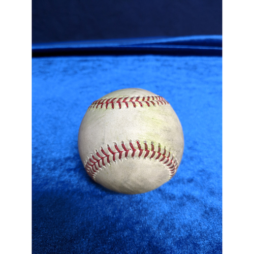 Photo of Game Used Baseball: Pitcher: Brandon Woodruff, Batters: Kole Calhoun (Single), Andrelton Simmons (RBI Single) - 4-10-2019 vs. MIL
