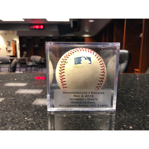 Photo of Game Used Baseball: Pitcher: D.J. Johnson, Batter: Ketel Marte (Single) - 5-4-2019 vs. ARI