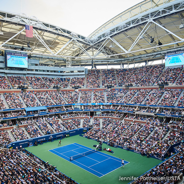 Clickable image to visit Two Courtside tickets to the US Open + Signed Tennis Bag by Andy Roddick