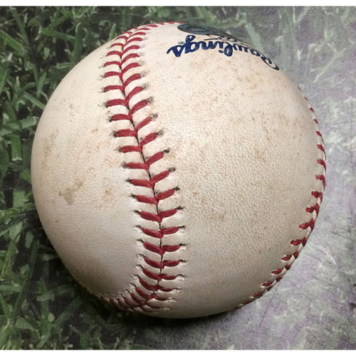 Photo of Game-Used Baseball PHI@MIL 05/24/19 - Chase Anderson - J.T. Realmuto: Single