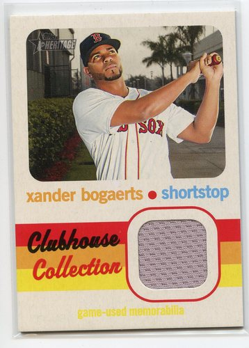 Photo of 2020 Topps Heritage Clubhouse Collection Relics #CCRXB Xander Bogaerts