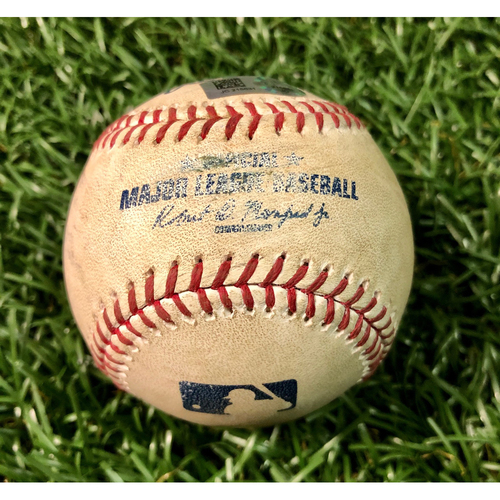 Game Used Baseball: Ryan Braun single off Chris Archer - August 6, 2017 v MIL