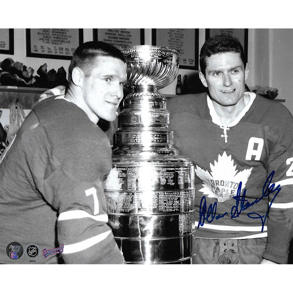 Allan Stanley (deceased) Autographed Toronto Maple Leafs 8X10 Photo