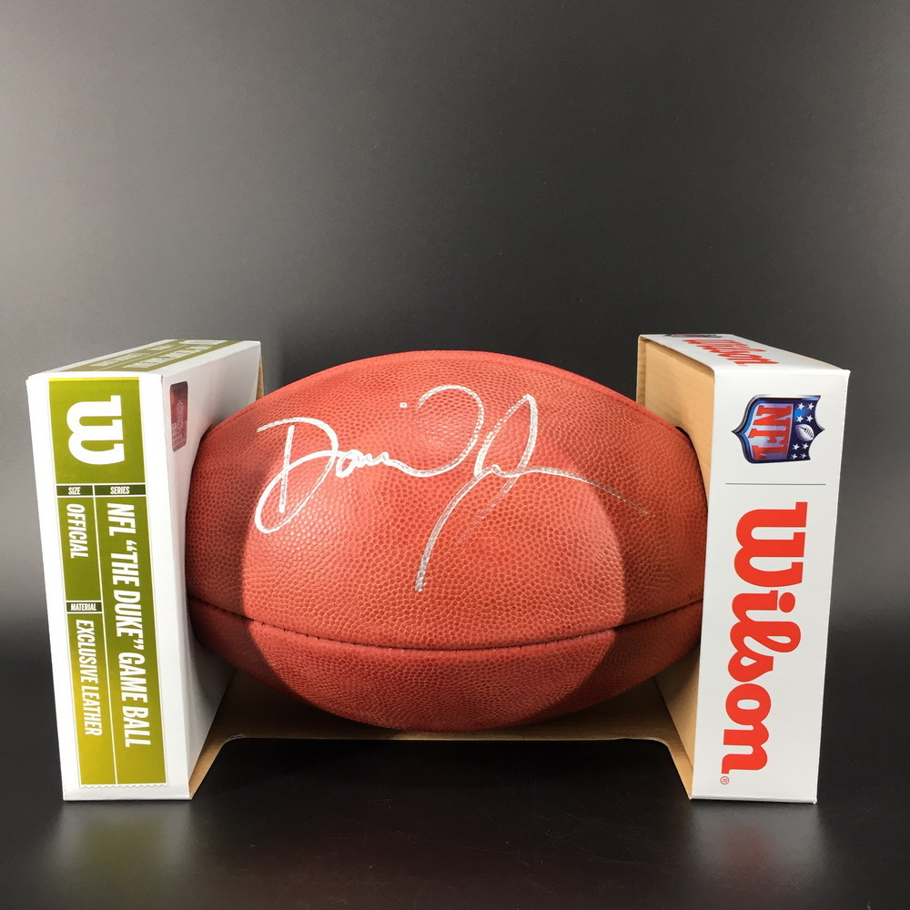 NFL - Giants Daniel Jones Signed Authentic Football with 100 Seasons Logo