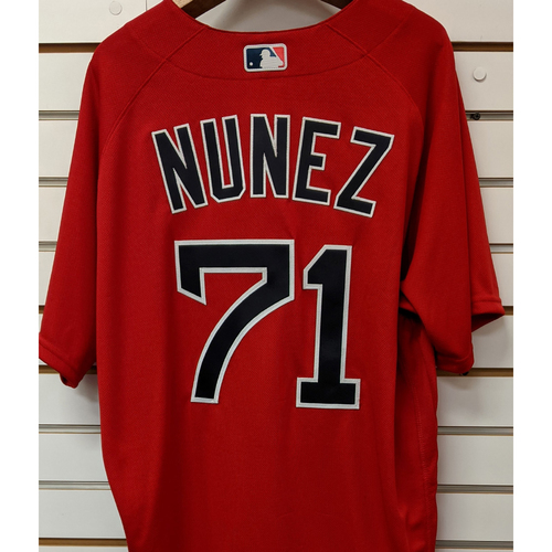 Photo of Nunez #71 Team Issued Nike Red Spring Training Jersey