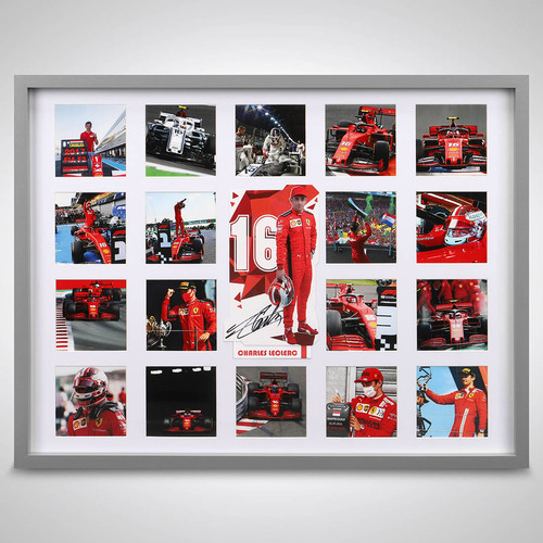Photo of Charles Leclerc Ferrari Photograph Display With Signed Driver Card