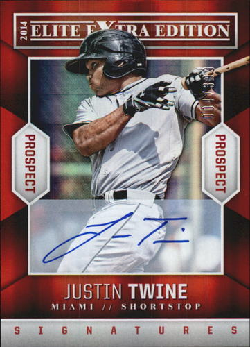 Photo of 2014 Elite Extra Edition Prospects Signatures #48 Justin Twine/399