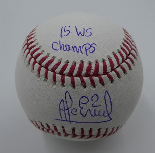 "Photo of Alcides Escobar ""15 WS Champs"" Autographed Baseball"