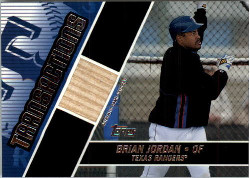 Photo of 2004 Topps Traded Transactions Relics #BJ Brian Jordan Bat
