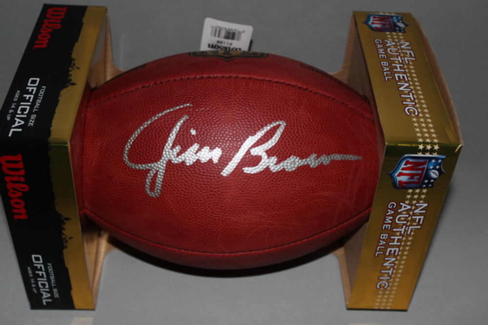 HOF - BROWNS JIM BROWN SIGNED AUTHENTIC FOOTBALL