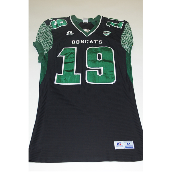 Photo of # 19 - Official OHIO BOBCATS Game Worn Football Jersey (2011) - SIZE MEDIUM