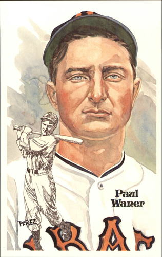 Photo of 1980-02 Perez-Steele Hall of Fame Postcards #62 Paul Waner  -- HOF Class of 1952