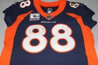 CRUCIAL CATCH - BRONCOS DEMARYIUS THOMAS GAME WORN BRONCOS JERSEY (OCTOBER 15, 2017)