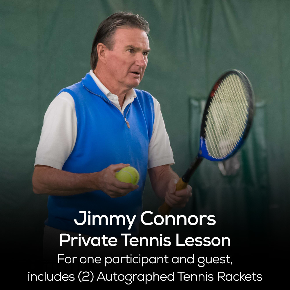 60-Minute Tennis Lesson with Jimmy Connors - Boca Raton, FL