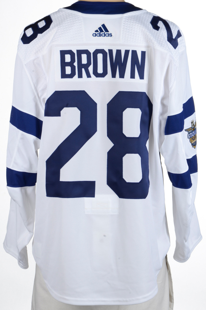 Connor Brown Toronto Maple Leafs Game-Worn 2018 NHL Stadium Series Jersey