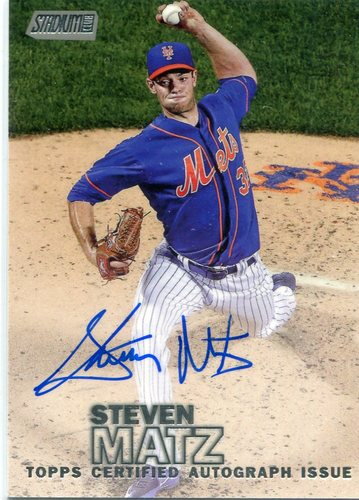 Photo of 2016 Stadium Club Autographs  Steven Matz
