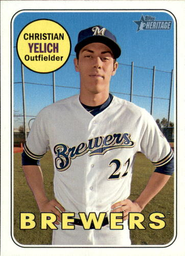 Photo of 2018 Topps Heritage #720 Christian Yelich SP
