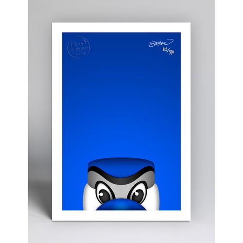 Photo of Ace - Limited Edition Minimalist Mascot Art Print by S. Preston  - Toronto Blue Jays