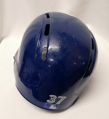 Photo of Authenticated Game Used Helmet - #37 Teoscar Hernandez (May 23, 18: 1-for-5 with 1 Double. Aug 8, 18: 1-for-4 with 1 HR, 1 Run and 2 RBIs). Size 7 1/2.