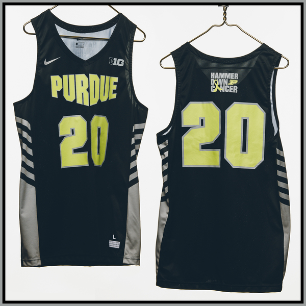 Photo of Purdue Basketball #20 Hammer Down Cancer Jersey, Worn By Nojel Eastern