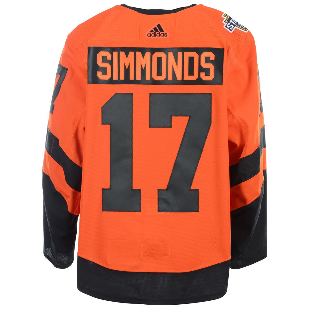 sale retailer 45f8b 78f4a Wayne Simmonds Philadelphia Flyers Game-Worn 2019 NHL ...