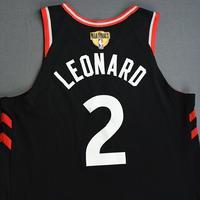 Kawhi Leonard - Toronto Raptors - 2019 NBA Finals - Game 3 - Game-Worn Black Statement Edition Jersey - Scored 30 Points