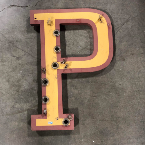 "Photo of AT&T Park Neon Letter ""P"" - 21.5""x15""x1"""