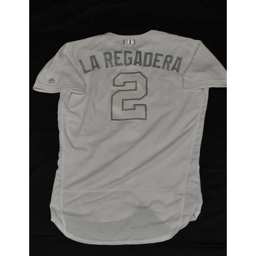 "Photo of Luis ""La Regadera"" Arraez Minnesota Twins Game-Used 2019 Players' Weekend Jersey"