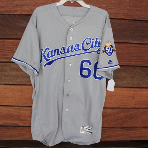 Photo of Game-Used Jersey: Ryan O'Hearn (9/22/18 - KC @ DET - Size 48)