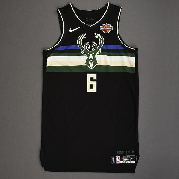 Image of Eric Bledsoe - Milwaukee Bucks - Kia NBA Tip-Off 2019 - Game-Worn Statement Edition Jersey